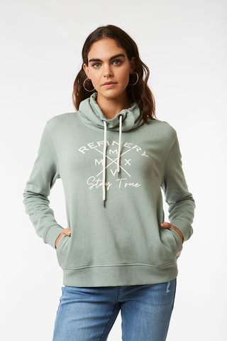 Cowl Neck Sweat _ 119532 _ Green