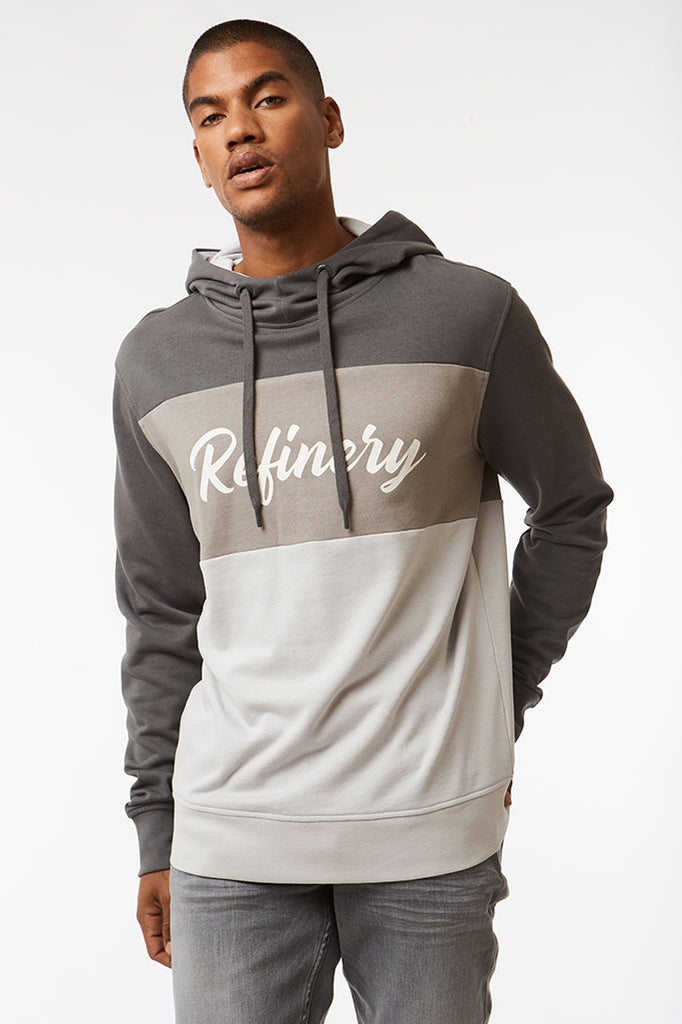 Colourblock Hoodie _ 119001 _ Charcoal