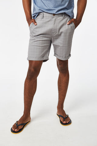 Printed Chino Shorts _ 114574 _ Grey