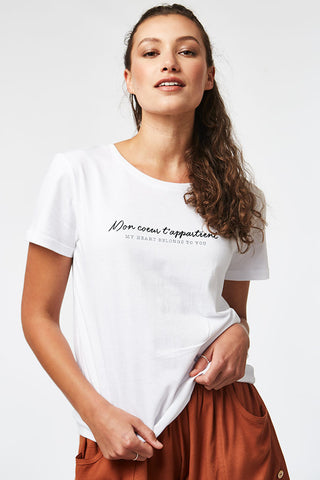 My Heart Belongs Tee _ 114708 _ White