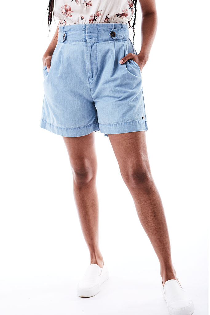 Denim Shorts _ 114775 _ Mid Wash