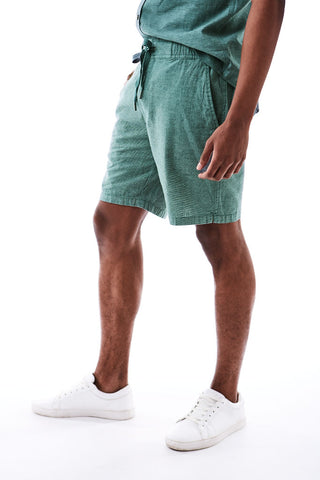 Linen Look Shorts _ 114652 _ Emerald