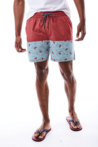 Watermelon Print Cuba Shorts _ 114600 _ Rose