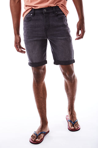Denim Shorts _ 114646 _ Charcoal