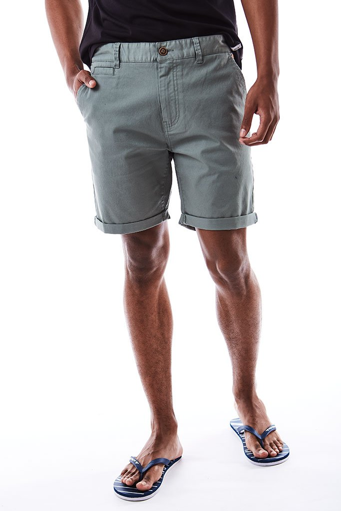 Slim Fit Chino Shorts _ 114536 _ Aqua