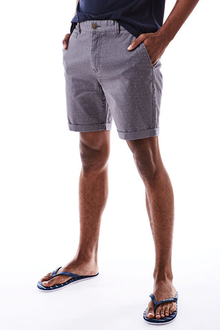 Rotary Print Chino Shorts _ 114568 _ Dark Grey