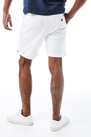 Slim Fit Chino Shorts _ 114536 _ White