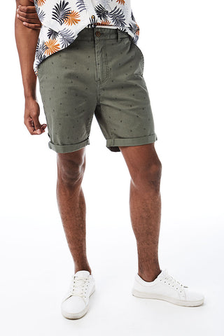 Geo-Print Chino Shorts _ 114565 _ Fatigue