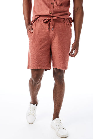 Linen Look Shorts _ 114652 _ Rust