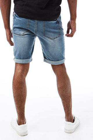 Denim Shorts _ 114648 _ Mid Wash