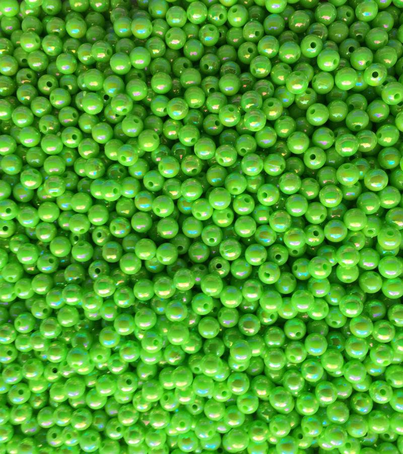 AB46-Pearl Lime Green Beads