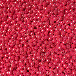 AB65-Pearl Hot Pink Beads