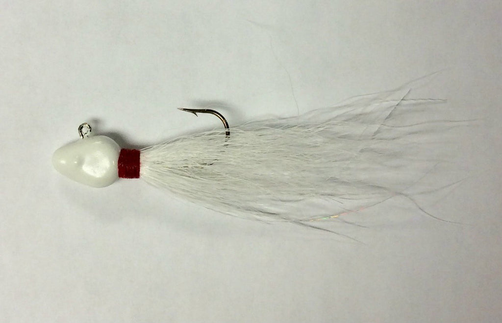 BT 01-White Buck Tail Jig