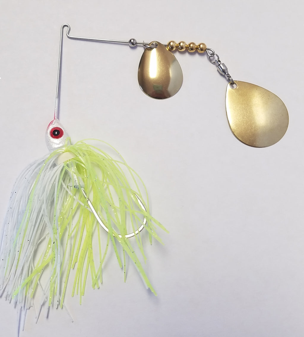 Char White w/Gold Bass Spinnerbaits