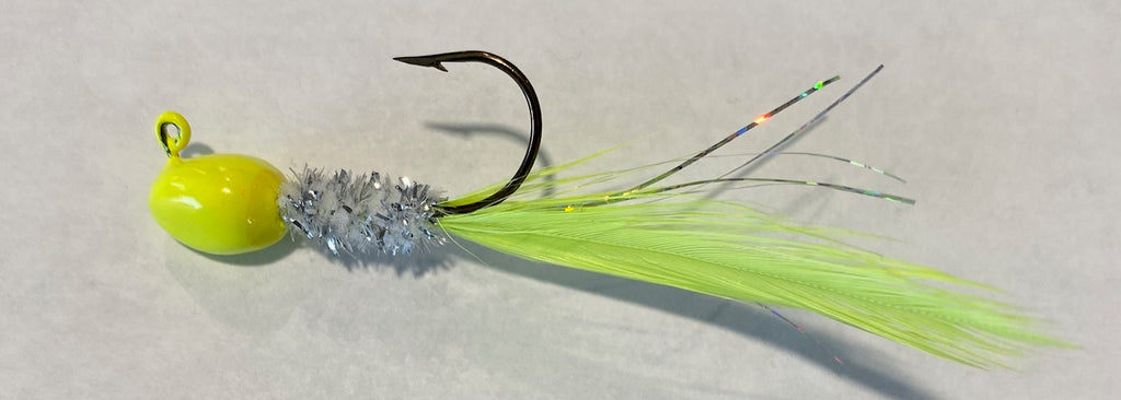 HCW 04 Hackle Char White Jig