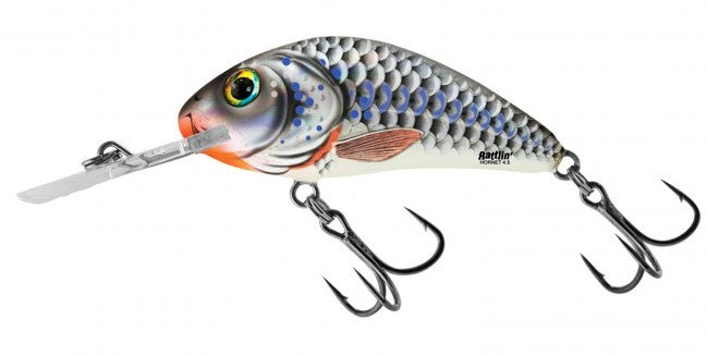 3.5 Silver Holographic Shad Rattlin Hornet