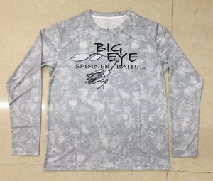 Snow Grey Performance Long Sleeve Shirt