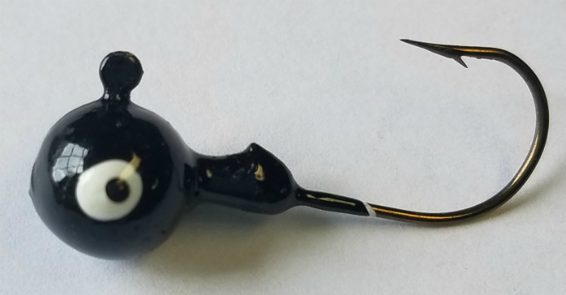 Black Round Head Jig