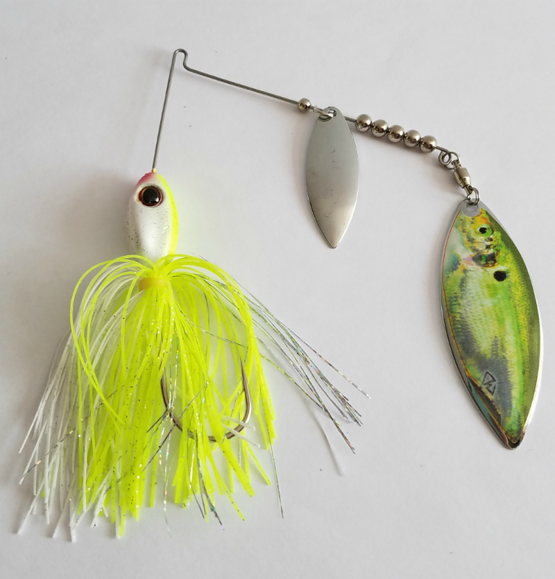 Char White/Silver Real Image Spinnerbait