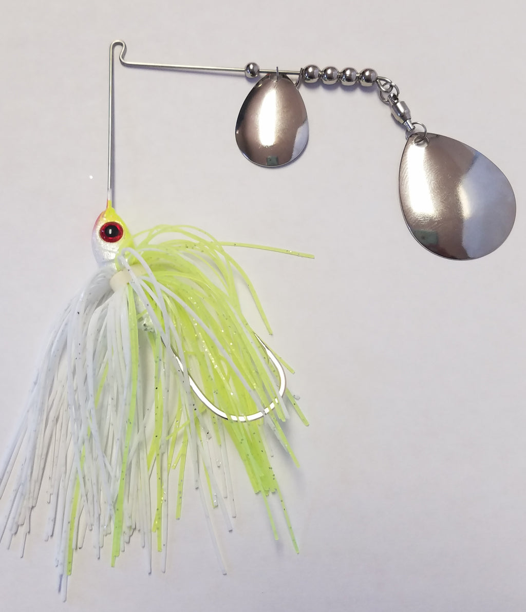 Char White w/Silver Bass Spinnerbaits