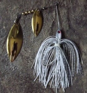 1/4 oz Shad/Gold Blades Small Spinnerbaits