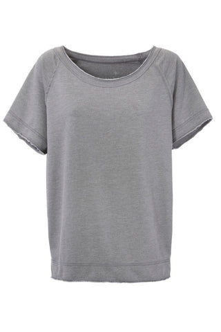 Juvia Loungewear Shirt im Sweater Stil grau