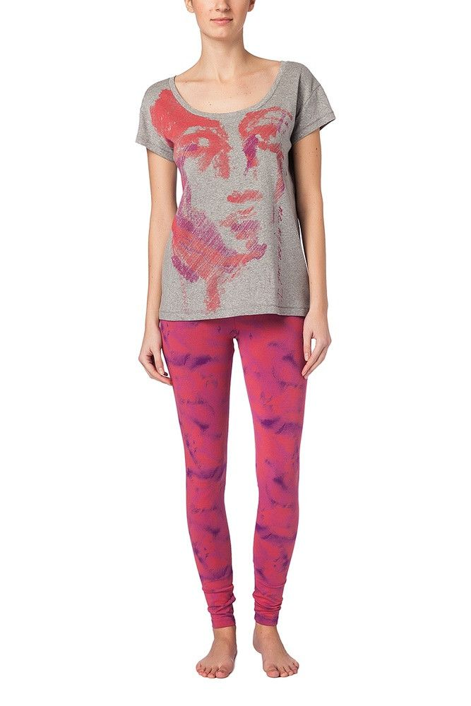 Wellicious <br/> Easy Leggings <br/> cloud print tomato