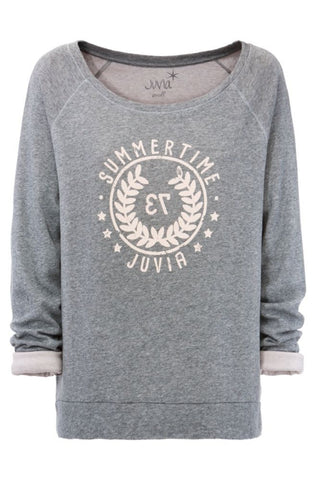 Juvia Loungewear Sweater Cashmere Mix grau