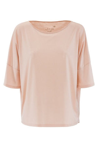 Juvia <br/> Leinen Oversize T-Shirt <br/> dusty rose