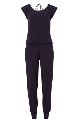 Wellicious <br/> Swirl Jumpsuit <br/> deep night blue-pebble grey