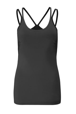 Wellicious <br/> Insight Top<br/> pebble grey-caviar black