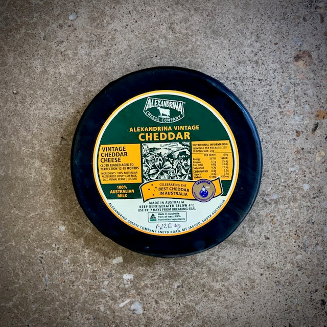 Alexandrina Cheese Co Vintage Cheddar Medallion (whole)