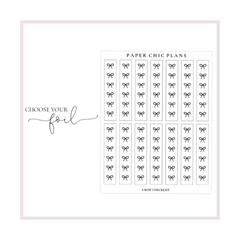 Large Bow Checklists // Foiled - Paper Chic Plans