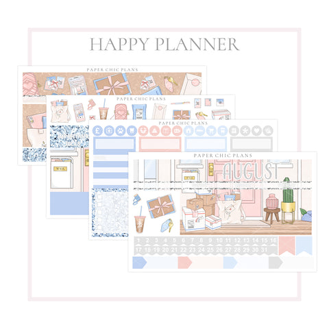 AUGUST // Happy Planner Classic Monthly Planner Kit - Paper Chic Plans