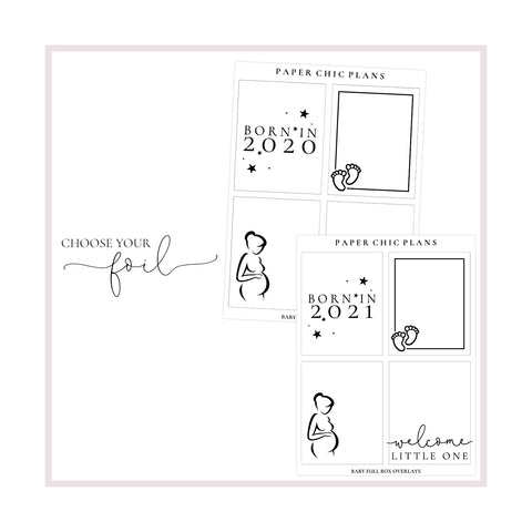 Baby Full Box Overlays // Foiled - Paper Chic Plans