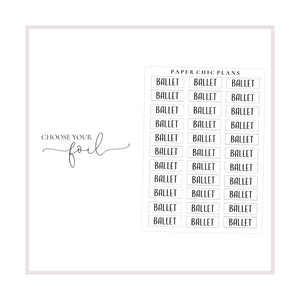Ballet // Foiled Scripts - Paper Chic Plans