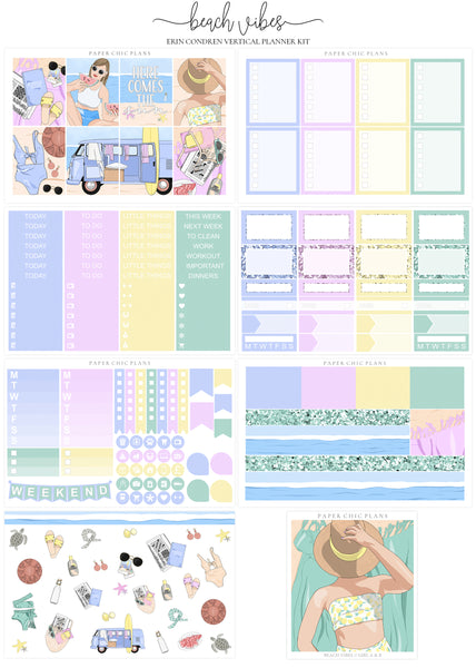 Beach Vibes // Full Kit - Paper Chic Plans