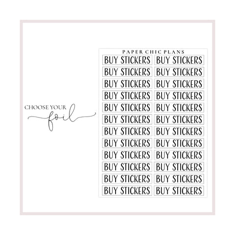 Buy Stickers // Foiled Scripts - Paper Chic Plans
