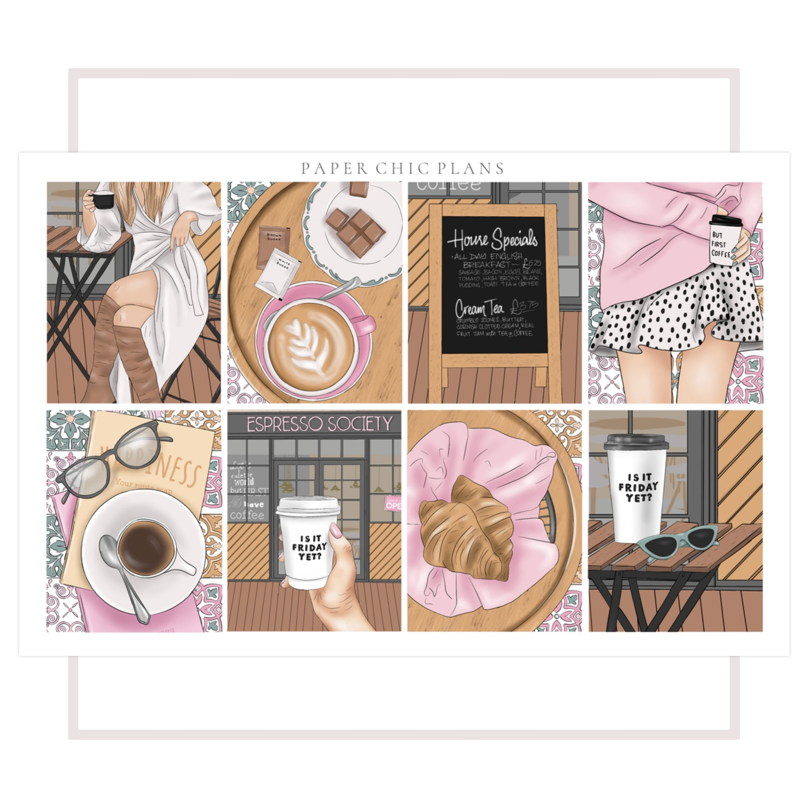 Coffee Society // Full Kit - Paper Chic Plans