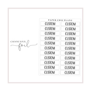 Custom Word // Foiled Scripts - Paper Chic Plans