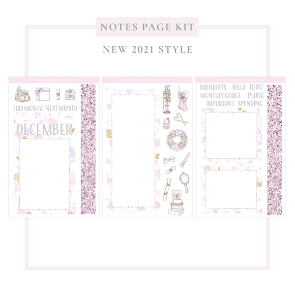December // NEW Style 2021 // Notes Page Kit