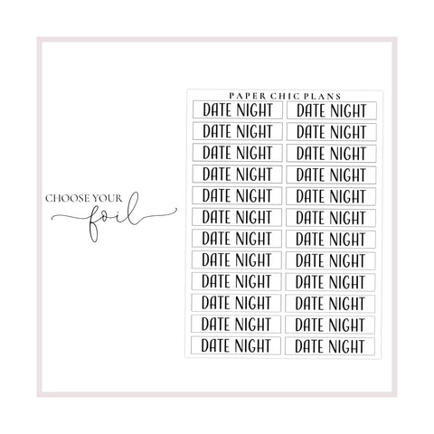 Date Night // Foiled Scripts - Paper Chic Plans