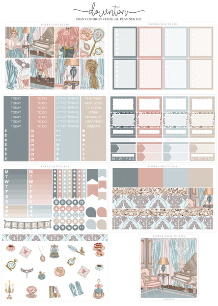 Downton // Full Kit - Paper Chic Plans