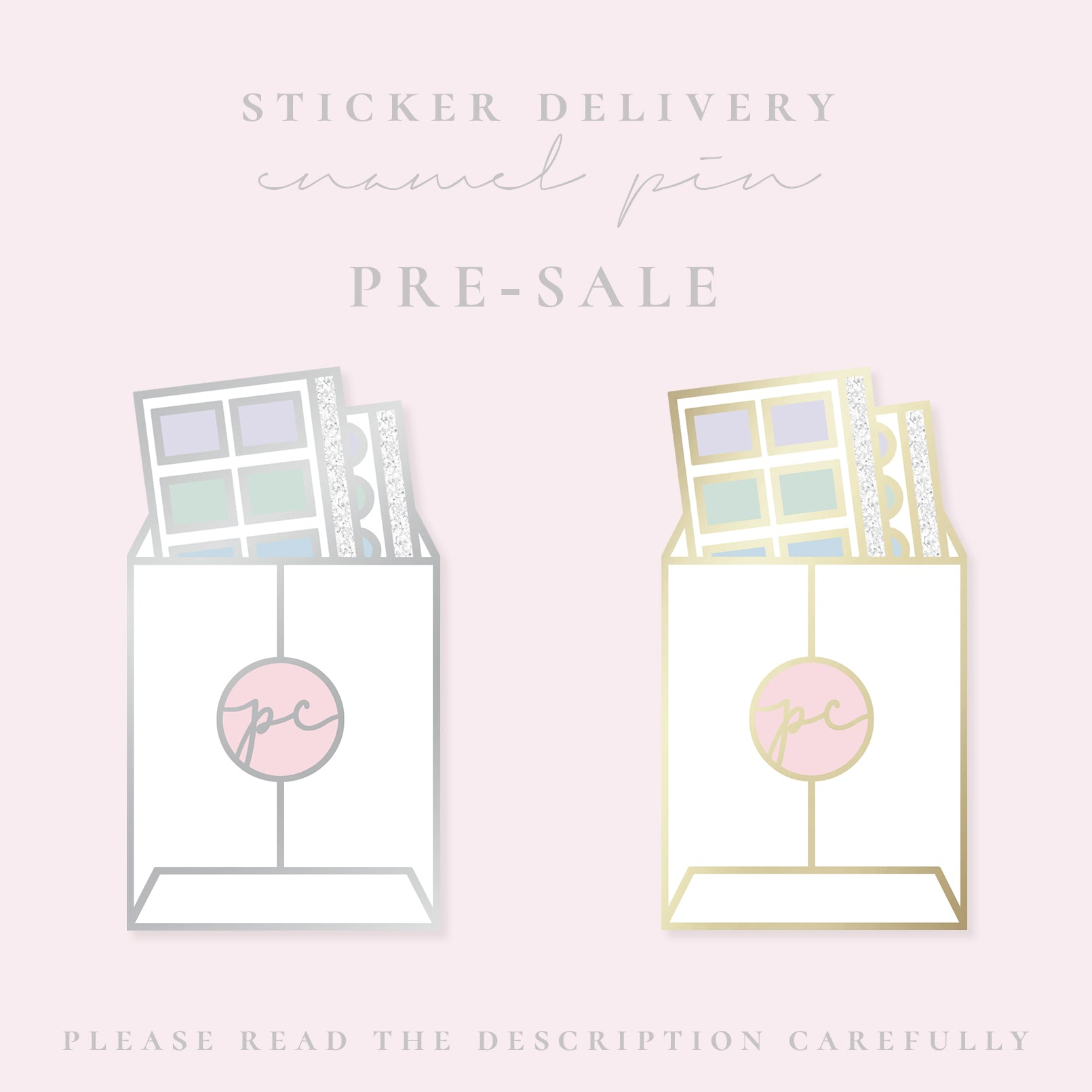 PRE-SALE // Sticker Delivery Enamel Pin - Paper Chic Plans