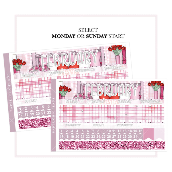 February // Vertical Monthly Planner Kit