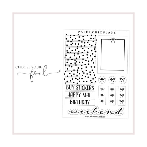 Sampler Sheet // Foiled - Paper Chic Plans