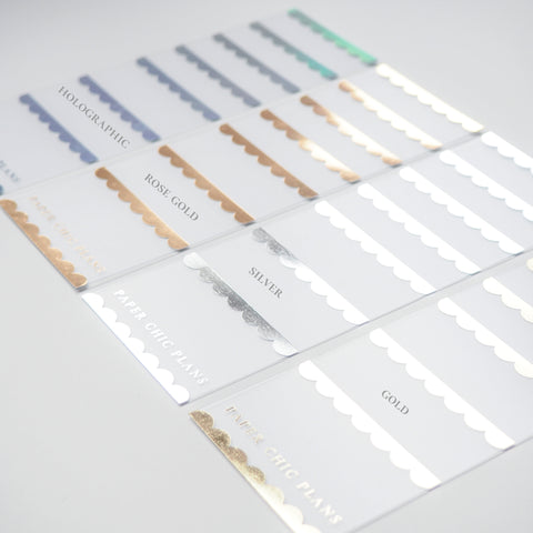 SECONDS // Foiled Frosted Washi Card