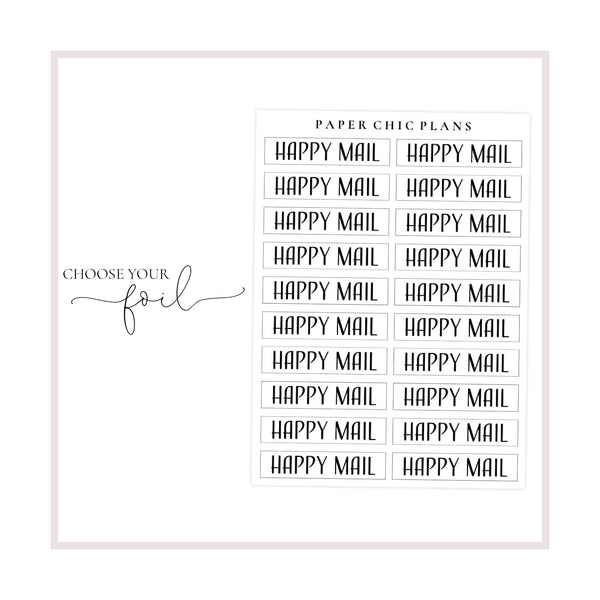 Happy Mail // Foiled Scripts - Paper Chic Plans