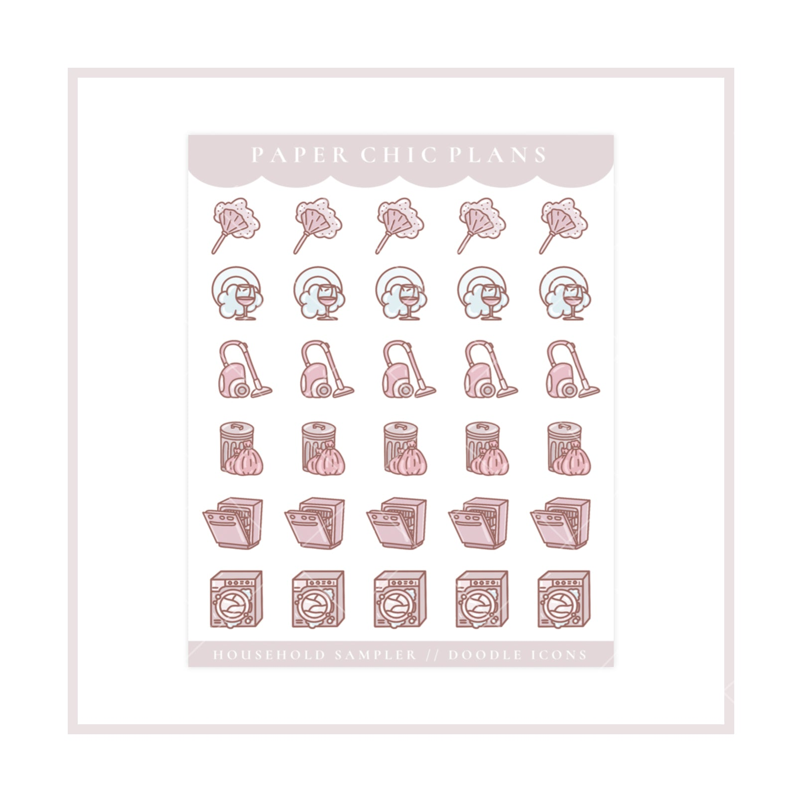 Household // Doodle Icon Sampler