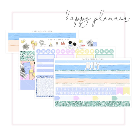 JULY // Happy Planner Classic Monthly Planner Kit - Paper Chic Plans